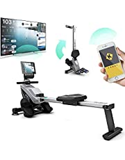 Bluefin Fitness BLADE Thuissport Vouwbare Roeimachine | Magnetische Weerstand Roeimachine | Kinomap | Live Video Streaming | Video Coaching & Training | Digitaal LCD Fitnesspaneel | Smartphone App