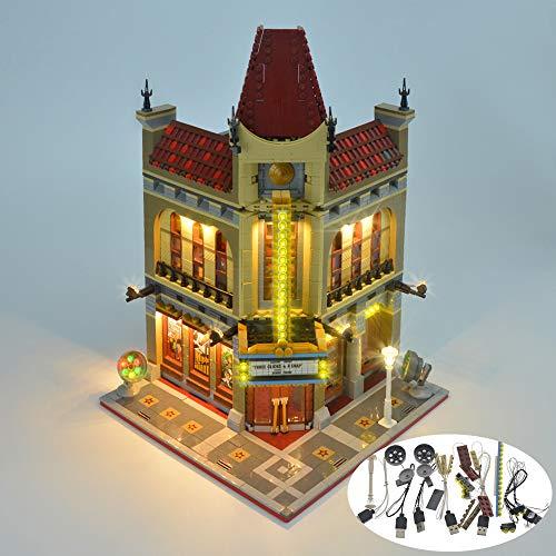 DIY LED Light Kit für Lego 10232 Street View Palace Cinema Palace Kino Gebäude Dekoration Zubehör (Nicht in das Modell einbeziehen)