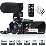 Video Camera Camcorder WiFi IR Night Vision FHD 1080P 30FPS YouTube Vlogging Camera