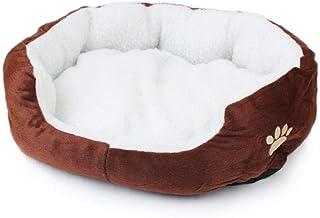MaylFre Round Pet Bed Lavable En Fausse Fourrure De Chat Et De Chien Donut Coussin Lit En..