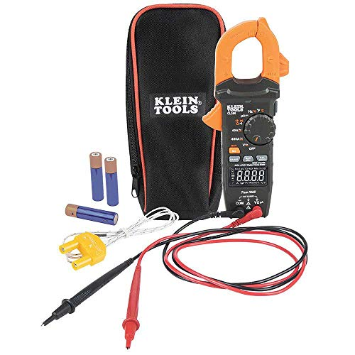 Klein Tools CL390 Digital Clamp Meter, Reverse Contrast Display, Auto Ranging 400 AMP AC DC, AC DC Voltage,TRMS, DC Microamps, Temp, More