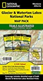 Glacier and Waterton Lakes National Parks [Map Pack Bundle] (National Geographic Trails Illustrated Map)