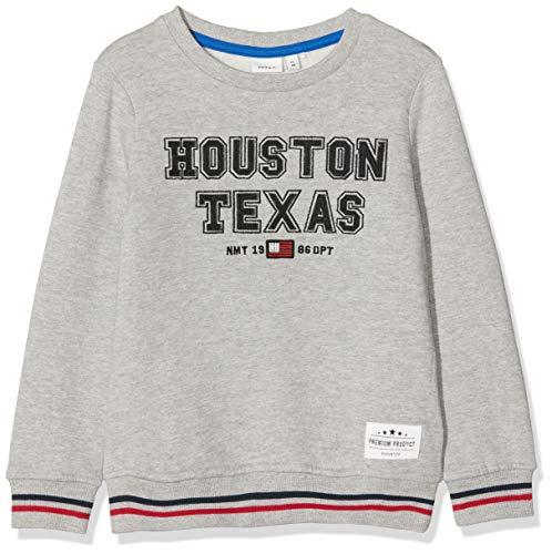 NAME IT Jungen NKMNCAZZAD Sweat BRU Sweatshirt, Grau (Grey Melange Grey Melange), (Herstellergröße: 116)