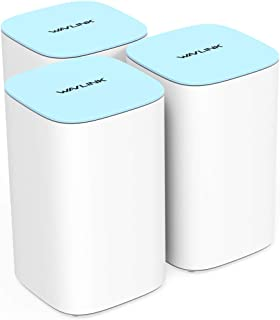 WAVLINK AC3000Mbps Mesh WiFi Route,Tri-Band Whole Home Wi-Fi Smart Mesh System, Gigabit Speed Mesh, the 3-unit kit covers ...