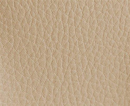 HAPPERS 1 Metro de Polipiel para tapizar, Manualidades, Cojines o forrar Objetos. Venta de Polipiel por Metros. Diseño Luna Color Crema Ancho 140cm