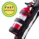 Badass Moto Jeep Fire Extinguisher Mount For Roll Bars - Adjustable, Secure, Easy 1 Min. Install with No Tools - For JK JKU JL TJ CJ - Stainless Hardware. Great Wrangler Accessories - Jeep Lover Gifts