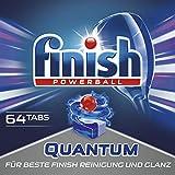 Finish Quantum - Detergente en pastillas para lavavajillas, con protección del brillo y del cristal