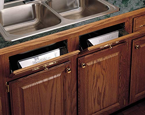 Rev-A-Shelf - 6541-10-52 - 10 in. Stainless Tip Out Sink Front Tray