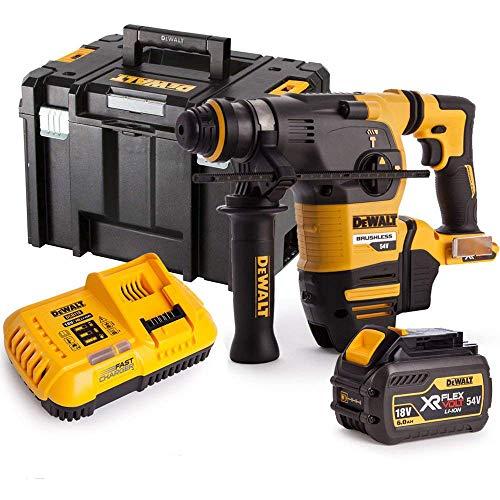 Dewalt DCH333N 54V XR Brushless Flexvolt 3 Mode SDS+ Hammer Drill with 1 x 6Ah Battery, Charger & Case