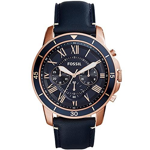 Reloj Fossil Grant Sport para Hombres 43mm, pulsera de Piel de Becerro
