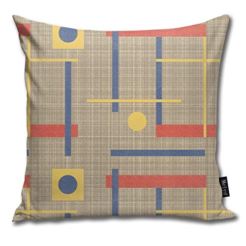Uliykon A Nod to Bauhaus (klein) Kissenbezug für Zuhause, Wohnzimmer, Couch Sofa, Dekoration, 45,7 x 45,7 cm