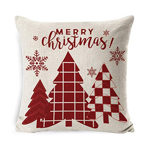 Funda de cojín de Navidad cuadrada para cojines decorativos para el hogar, Navidad, decoración de Navidad, regalo de Navidad