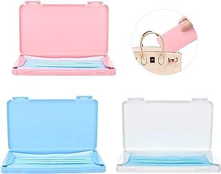 マスクケース 3つセット Royal Atic マスク収納 保管 マスク入れ 携帯用 コンパクト 取り出しやすい 持ち運び便利 外出に適応 ピンク+ブルー+ホワイト