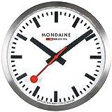 Mondaine Reloj Pared Inteligente en Color Plata, MSM.25S10, 25 CM