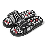 BYRIVER Acupressure Foot Massager, Acupoint Stimulation Reflexology Massage Slippers Shoes Sandals Tools for Men Women, Stress Relief Gift, Reduce Tension Improve Circulation (02S)