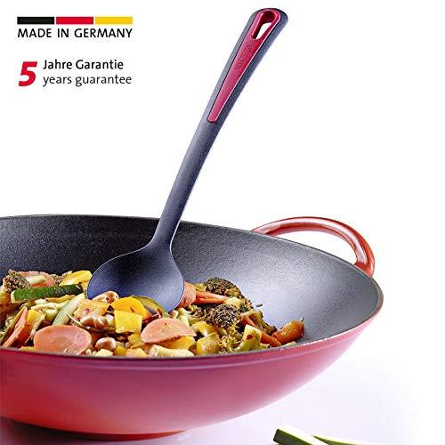 Westmark Gemüse-/Wok-/Kochlöffel, Kunststoff, Länge: 31,5 cm, Gallant, Schwarz/Rot, 29652270