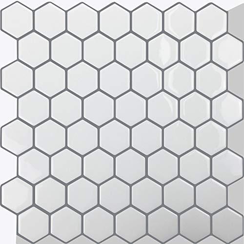 WoStick Azulejos Adhesivo de Pared Pegatinas de Baldosas 3D Revestimiento Border Decorativo...