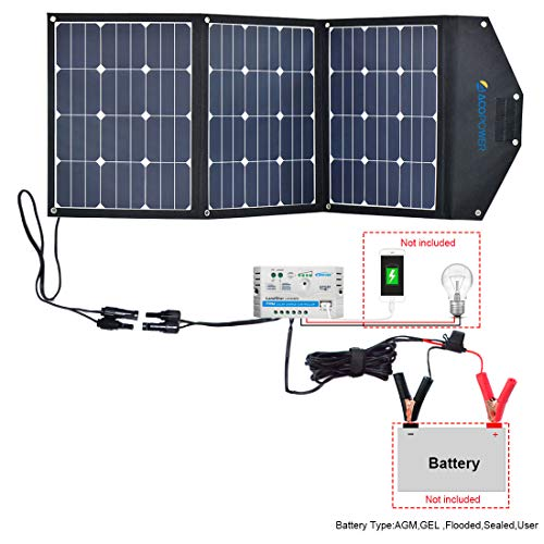 ACOPOWER HY-3x35W18V2 Solar Panel Kit w 10A Charge Controller 12V 105W RV/Camper Boat Battery and DC Devices