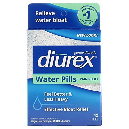 Diurex Water Pills + Pain Relief - Relieve Water Bloat, Cramps, & Fatigue - 42 Count