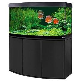 Aquariumkombination Fluval Vicenza 260 mit LED Beleuchtung, Heizer, Filter und Unterschrank schwarz