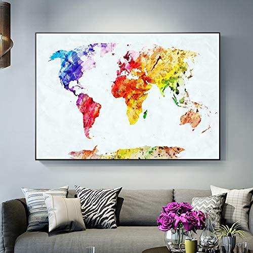 sanzangtang Babyzimmer Karte Poster und Drucke abstrakte Wand Graffiti Leinwand Kunst Bild Wohnzimmer Dekoration rahmenlose Malerei 20cmX30cm