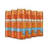 Gillette Fusion5 Gel de Afeitar Hombre Ultra Hidratante, 200 ml, Pack de 6