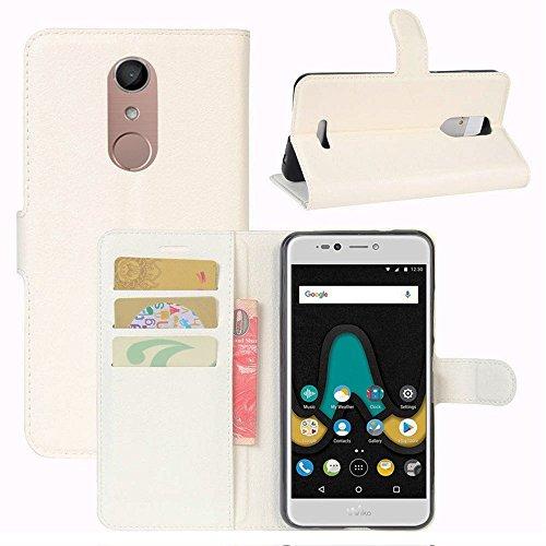 Lapinette Hülle Tasche Brieftasche Schutzhülle Protector für Alcatel A3 XL - Weiß