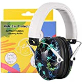 PROHEAR 032 Kids Ear Protection Ear Muffs with Travel Bag, NRR 25dB Noise Blocking Earmuffs for Monster Trucks, Autism, Studying, Protective Ear Defenders for Toddler Children Teens - Graffiti Pattern