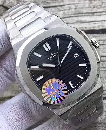 GFDSA Automatische horloges Luxe merk Automatisch mechanisch herenhorloge Saffier Transparant Zwart Blauwe wijzerplaat Glide Verzacht lichtgevende horloges