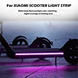 Maayun para Xiaomi Mijia M365 Scooter eléctrico Tira de luz de Tira m365 luz Trasera m365 Linterna m365 luz m365 Tiras Reflectantes (A)