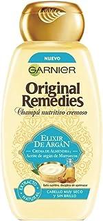 Garnier Original Remedies - Champú Nutritivo Cremoso Elixir de Argán para Pelo Muy Seco y Sin Brillo - 300 ml
