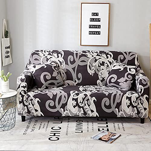 Blumendruck Elastische Schonbezüge Stretch-Sofabezüge für Wohnzimmer Eckcouchbezug Sesselbezug 1/2/3/4 Sitz, Farbe 18,1, Sitz 90,140 cm