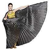 Wuchieal Öffnung Bauchtänzerin Isis Flügel Dancing Requisiten Kostüm mit Stöcke Tasche...