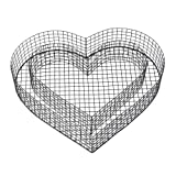 bellissa Gitterform Herz H8 38 x 32,5 x 8 cm Pulverbeschichtung