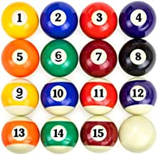 """EastPoint Official Regulation Size 2-1/4"""" Balls Pool Table Billiard Ball Set with 12 Pool Cue Chalk Cubes Kit"""