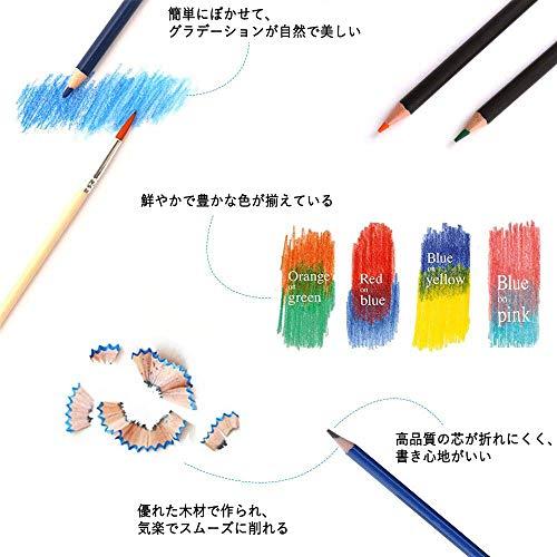 ShuttleArt色鉛筆デッサン鉛筆123点セットメタリック色消しゴム鉛筆削り大人の塗り絵素描水彩紙子供用初心者アーティストプレゼントクリスマスギフト入学お祝いおしゃれ収納ケース使用説明書付き