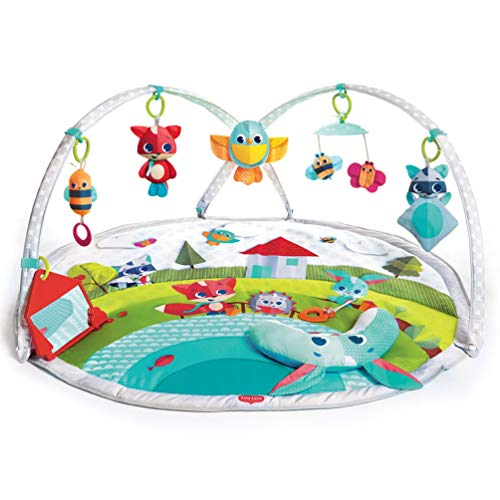 Tiny Love Dynamic Gymini, Baby Play Mat and Activity Gym with Music and Lights, Suitable from Birth, 0 Month +, 100 x 90 cm, Meadow Days