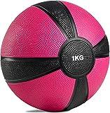 POWRX Balón Medicinal 1 kg + PDF Workout (Fucsia)