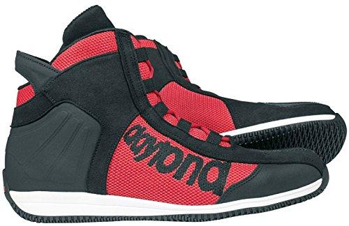 Daytona Boots motorschoenen heren & dames motorlaarzen kort AC4 WD, heren, sporters, het hele jaar, leer 37 EU rood