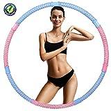 Hula Hoops para adultos, anillo de hula con cuentas ponderadas extraíbles, equipo de entrenamiento en casa, puede perder peso, cintura fina, ejercicio aeróbico