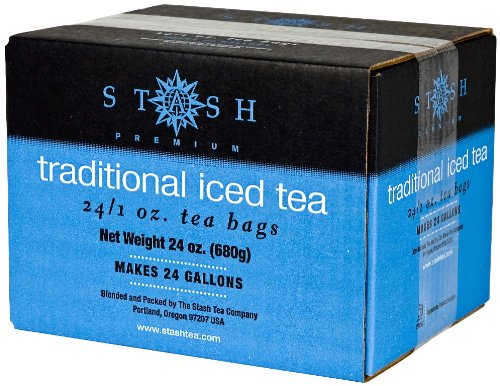 Stash Tea Traditional Black Tea 1 Ounce Iced Tea Brew Bags (Pack of 24) Individual Black Tea Bags for Use in Teapots Mugs or Cups, Brew Hot Tea or Iced Tea