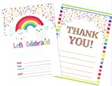 Magical Birthday Party Invitations for girls , boys and Thank You card (25 counts each) with Matching Envelopes (50 counts) | Magical Birthday Party Invitation | Bridal Shower Invitation | Baby Shower Invitation Package (100 counts)