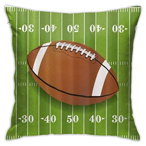 Lawenp Ruler Rugby Throw Pillow Covers 18x18 Pulgadas Throw Pillowcase Funda de cojín para el hogar