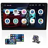 10.1 Inch Android Car Radio Double Din GPS Navigation Stereo Touch Screen Radios Support WiFi FM Mirror Link for Android/iOS, Bluetooth Car Stereo with Backup Camera