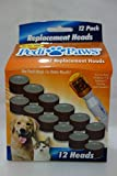 Telebrands New Hot Pedi Paws Nail File Trimmer Replacement Heads Pedipaws 12 Pack As Seen TV Refill
