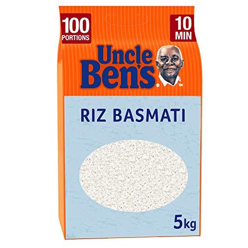 UNCLE BEN'S Riz Basmati Cuisson 10 Min Vrac sans Gluten 5 kg