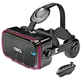 VRゴーグル vrゴーグルスマホ用 VR VRヘッドセット 通話に応答する機能付き アンチブルーレンズ 瞳孔/焦点距離調節 vrゴーグル dmm 1080PHD画質 3D ゲーム映画動画 4.7~6.2インチの iPhone Android などのスマホ対応 Bluetoothリモコン 120°視野角
