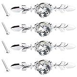 Anladia 4er 30mm Diamant Design Möbelknöpfe Möbelgriffe Möbelknauf MöbelKnopf Dekoration Bling Kristal Diamond