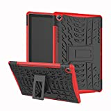 Case for MediaPad M5 10 10.8 Inch M5 Pro 10.8 Inch DWaybox Hybrid Rugged Heavy Duty Hard Back Cover Case with Kickstand for Huawei MediaPad M5 10 10.8 Inch (Red)