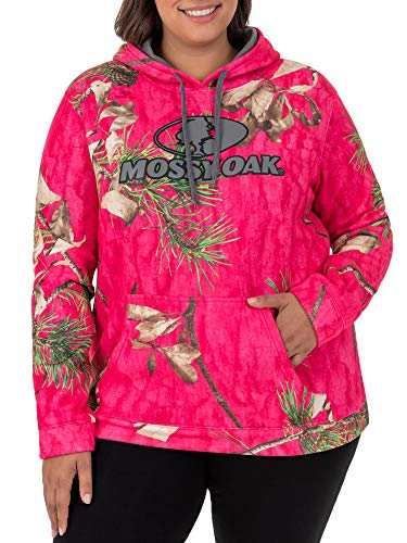 Mossy Oak and Realtree Womens Performance Wick Pullover Hoodie Pink Medium 8-10